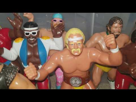80's LJN WWF  WWE Rubber Wrestling Figures Collection