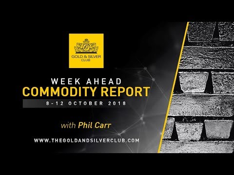 WEEK AHEAD COMMODITY REPORT: 8-12, October 2018: Gold, Silve