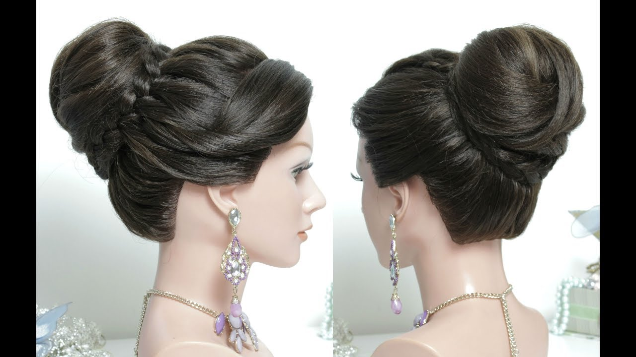 most attractive hair styles juda hairstyle beautiful high bun with braid hair 1128