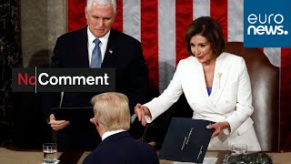 Trump declines to shake Pelosi's hand at State of the Union speech