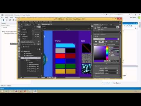 Designing Your XAML UI with Blend, 03, XAML Design and Styling in Blend, Part 1