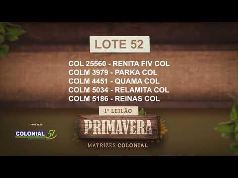 LOTE 52   COL 25560,COLM 3979,4451,5034,5186