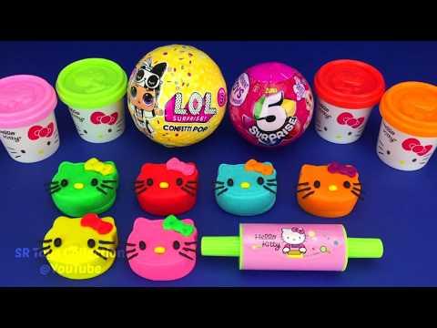 Making 3 Ice Cream out of Play Doh LOL Zuru 5 Surprise Toys PJ Masks Chupa Chups Surprise Eggs