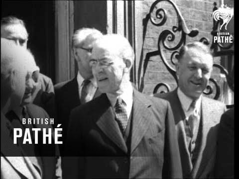Stafford Crisp & John Snyder At No 10 Downing Street (1949)