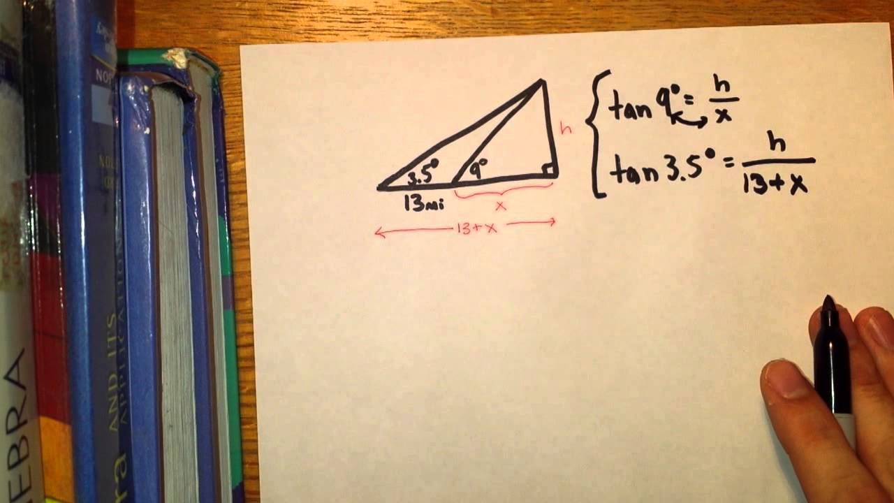Trigonometry Applications Angle Of Elevation YouTube - Land height