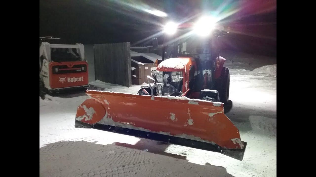 Kubota BX pushing the snow by KJB KBro