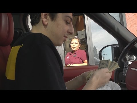FINDING $10,000 IN MY FOOD!! (DRIVE THRU PRANK)