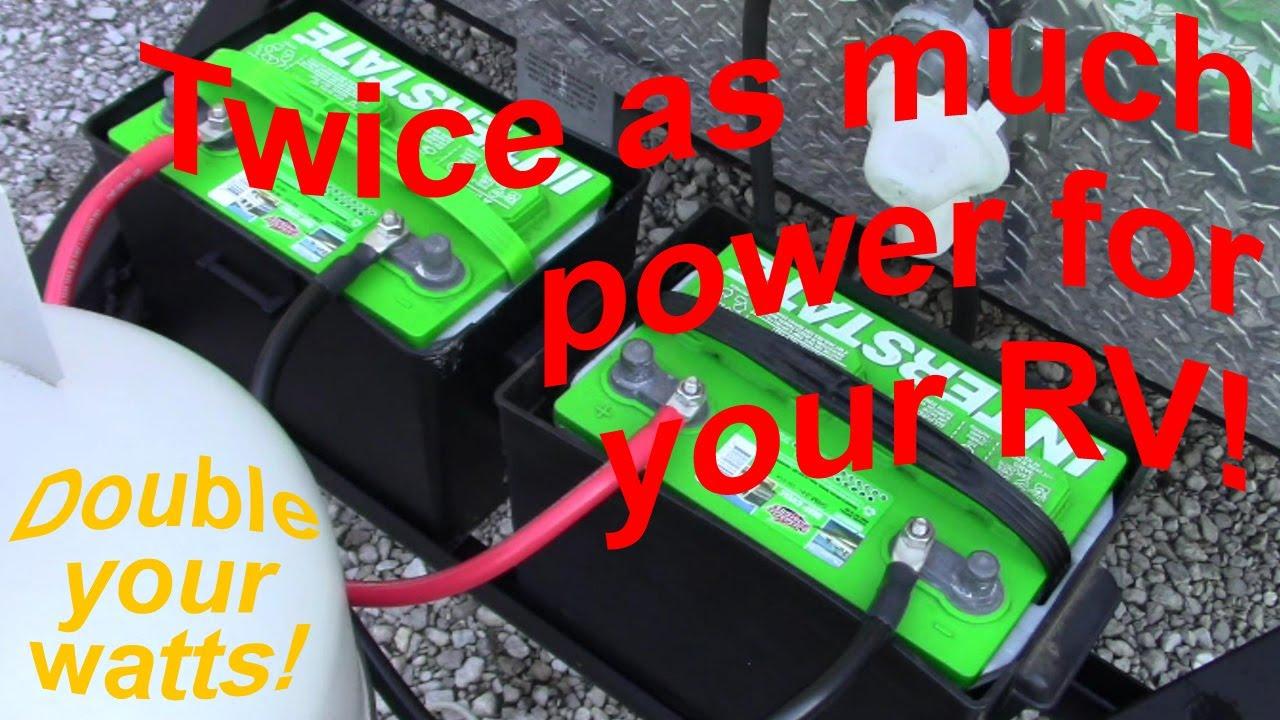 rv house battery wiring add a 2nd rv battery youtube  add a 2nd rv battery youtube