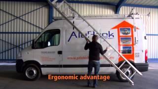 Ergonomic ladder rack ErgoRack by roof rack specialist Prime Design Europe