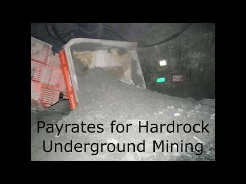 Pay rates in Hardrock Underground Mining