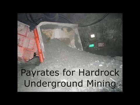Pay Rates In Hardrock Underground Mining