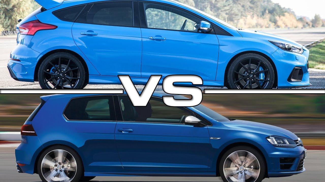 Golf R Vs Gti >> Ford Focus RS vs VW Golf R - YouTube