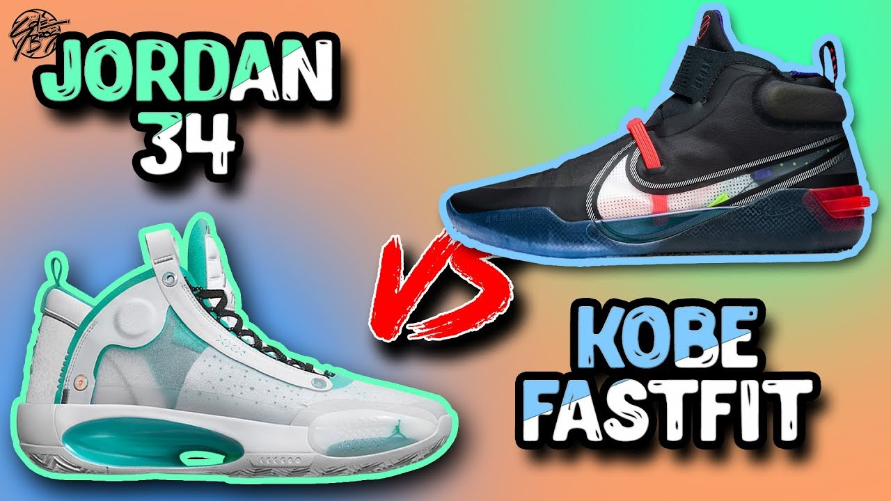 desconectado Previamente patrón  Air Jordan 34 vs Nike Kobe AD NXT FF! - YouTube
