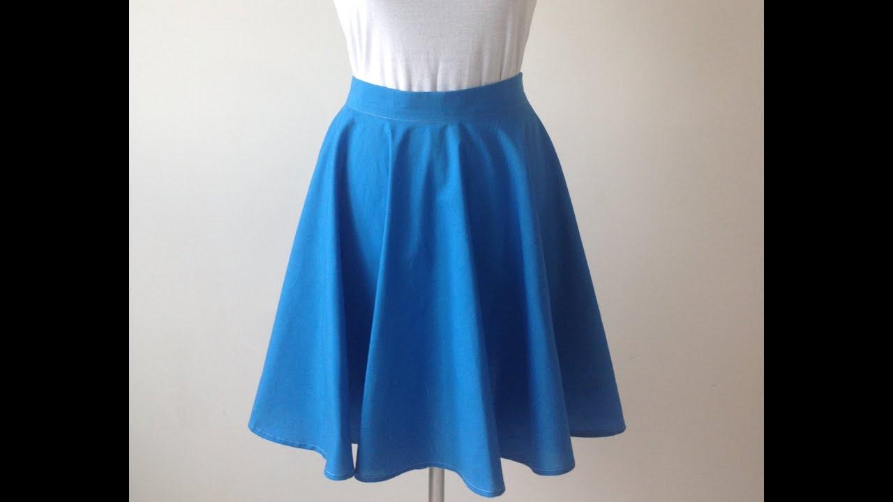 Как сшить юбку полусолнце со
