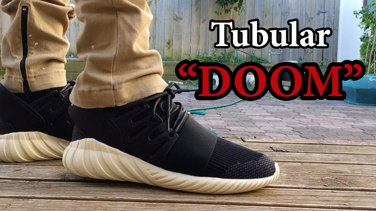 Adidas Tubular Doom Black On Feet