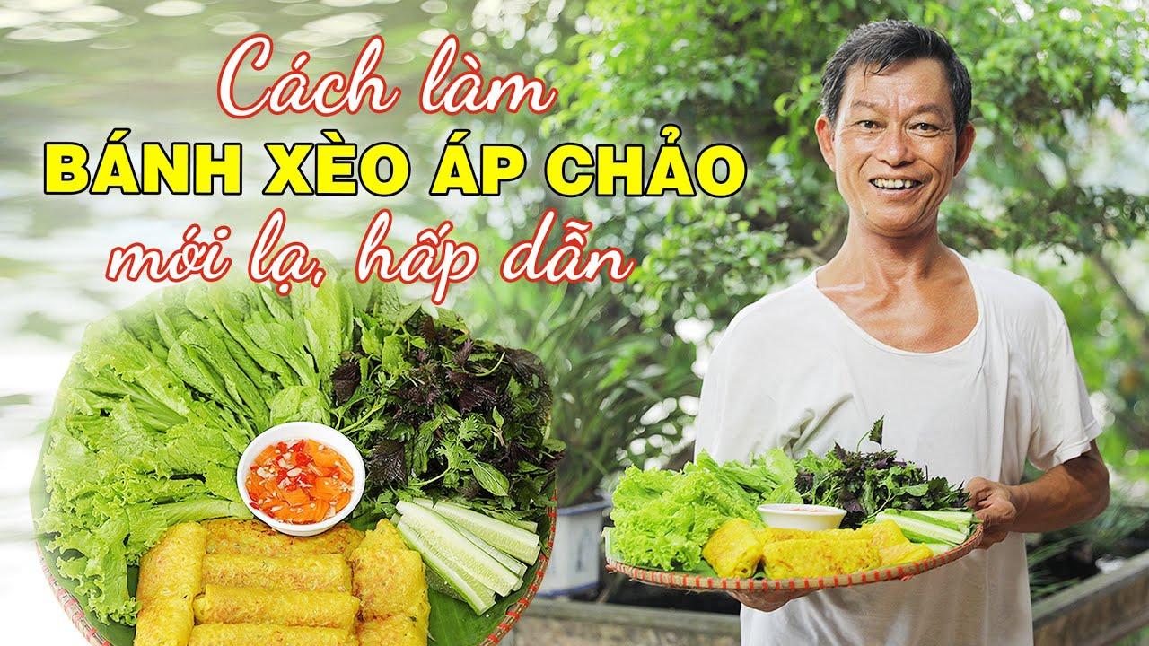 Ông Thọ Chia Sẻ Cách Làm Bánh Xèo Áp Chảo Mới Lạ, Hấp Dẫn | Crispy Vietnamese Crepes