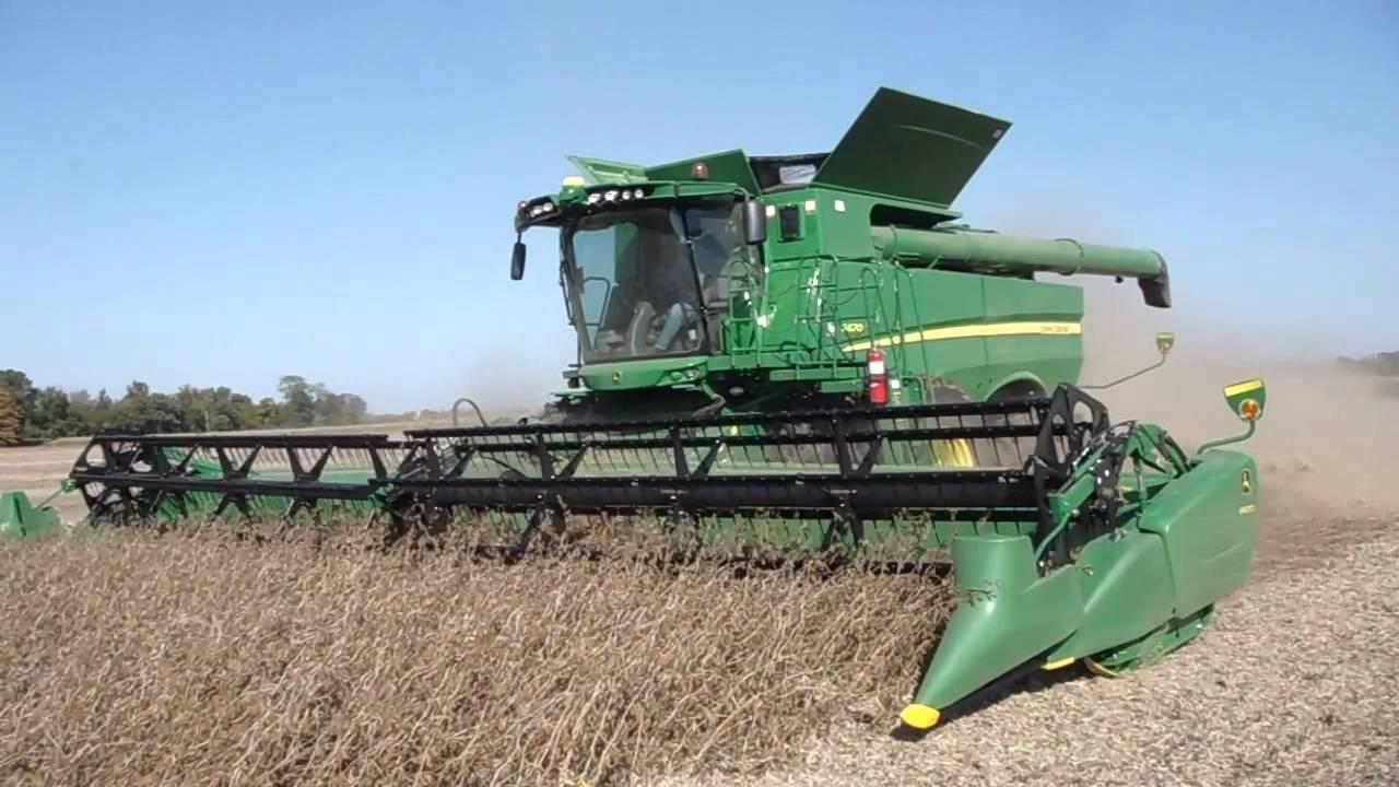 John Deere S670 Soyebean Harvest 2011