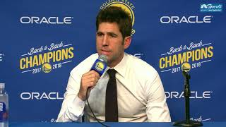 Bob Myers Speaks After Draymond Green Suspension
