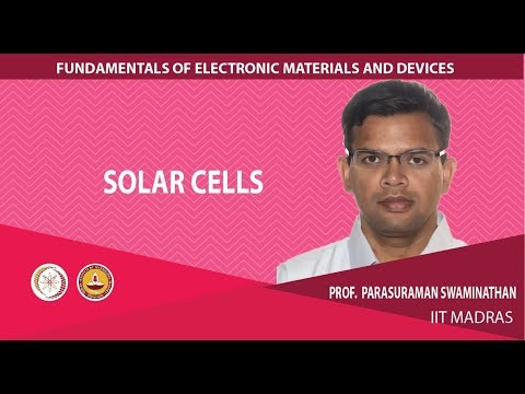 Mod-01 Lec-19 Optoelectronic devices: solar cells