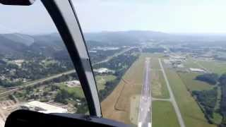 Bell Jet Ranger Helicopter Autorotation to Touchdown