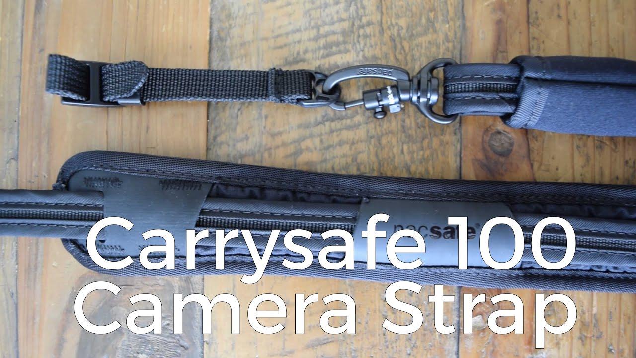 256661623a6 Pacsafe - Carrysafe 100 Anti-Theft Camera Strap - YouTube