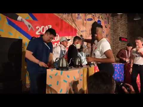 World Aeropress Champs 2017 - Chang Khan (Uncle Bear Coffee) from South Africa