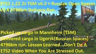 ETS2 1.22.2.3s TSM v6.2 plus Russian Spaces v2.4 4796km Delivery Run