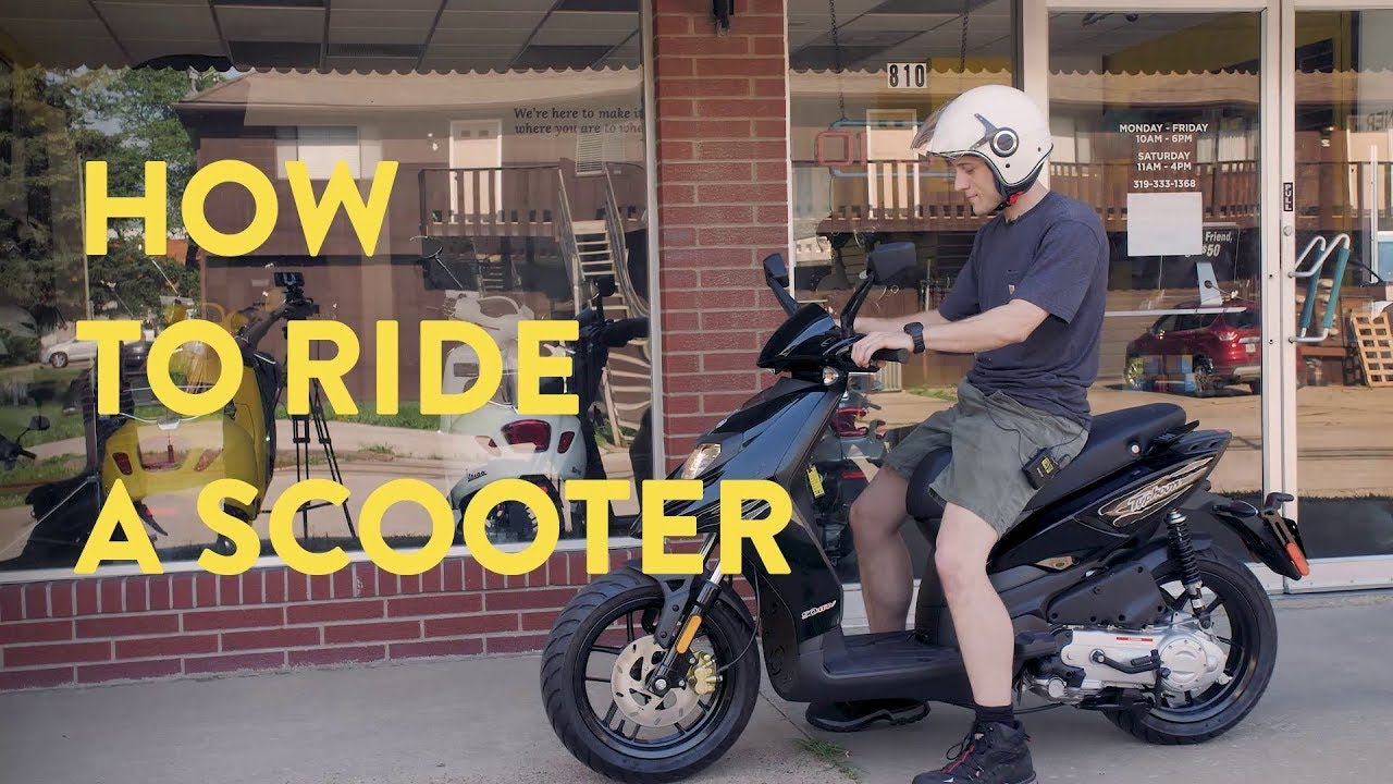 How to Ride a Scooter For The First Time