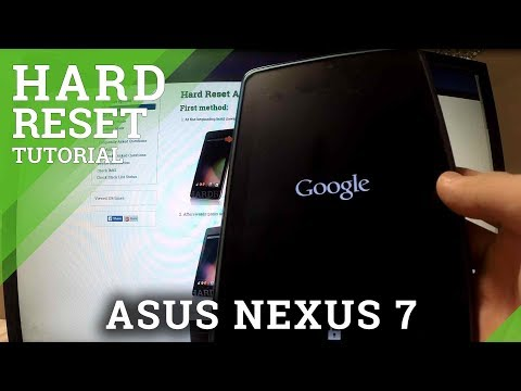 Hard Reset ASUS Nexus 7 - factory reset by TWRP recovery