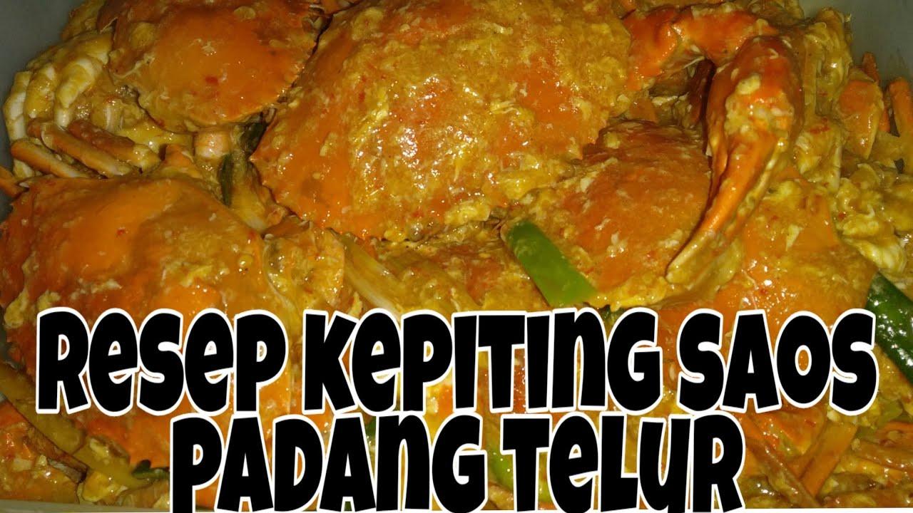 Resep Kepiting Saus Padang Telur Youtube