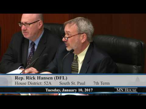 House Environment and Natural Resources Policy and Finance Committee  1/10/17