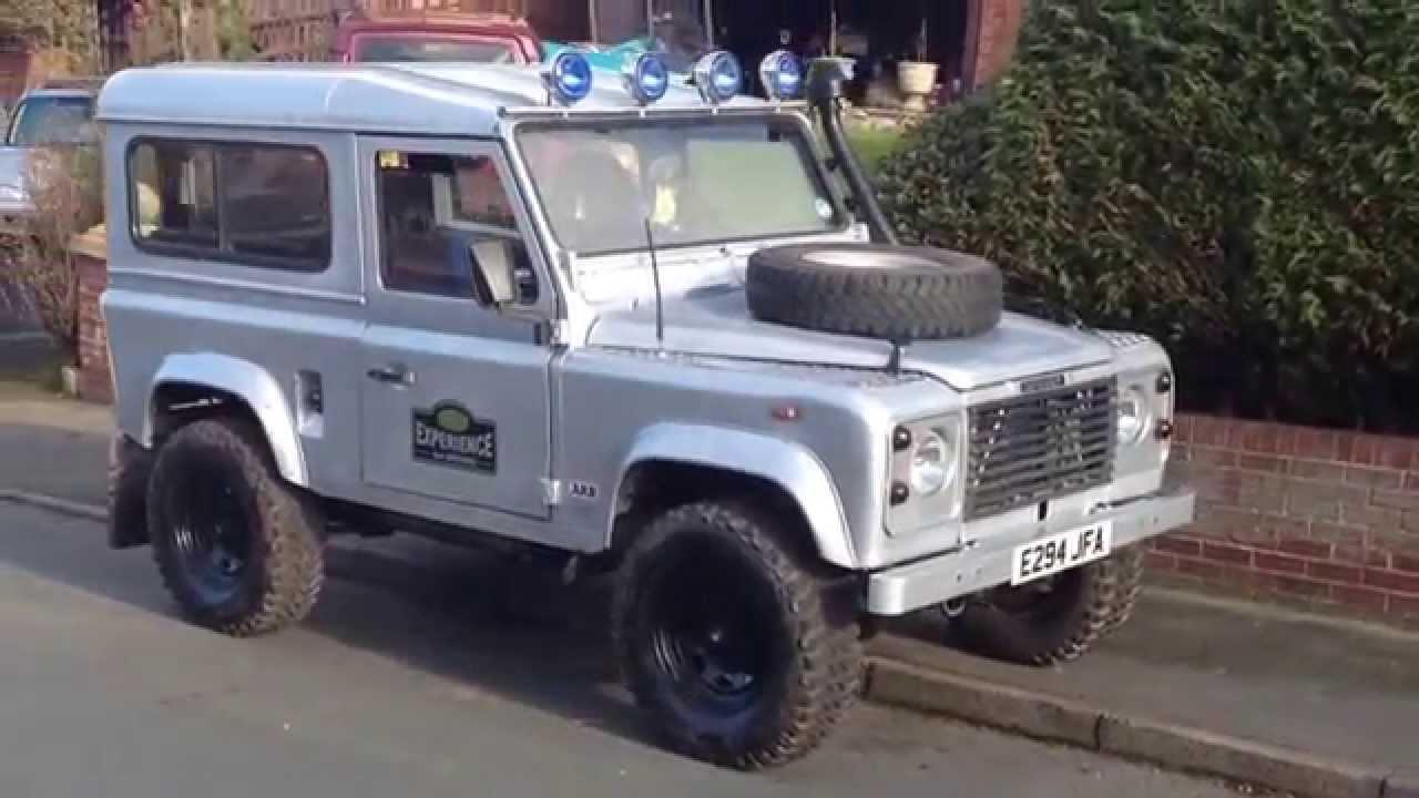 land rover defender 90 custom silver 200tdi - youtube