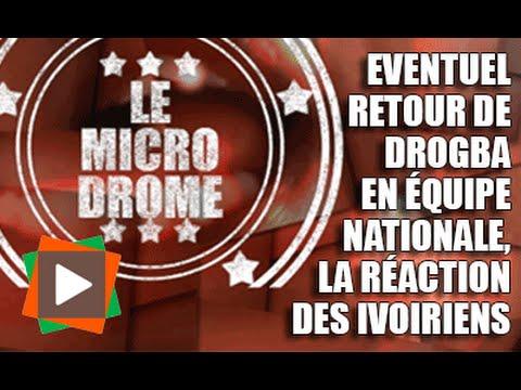 MICRODROME : Eventuel retour de Drogba en équipe nationale, la réaction des ivoiriens