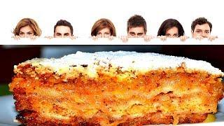 Насыпной пирог, 3 стакана. Быстрые и простые рецепты для дома