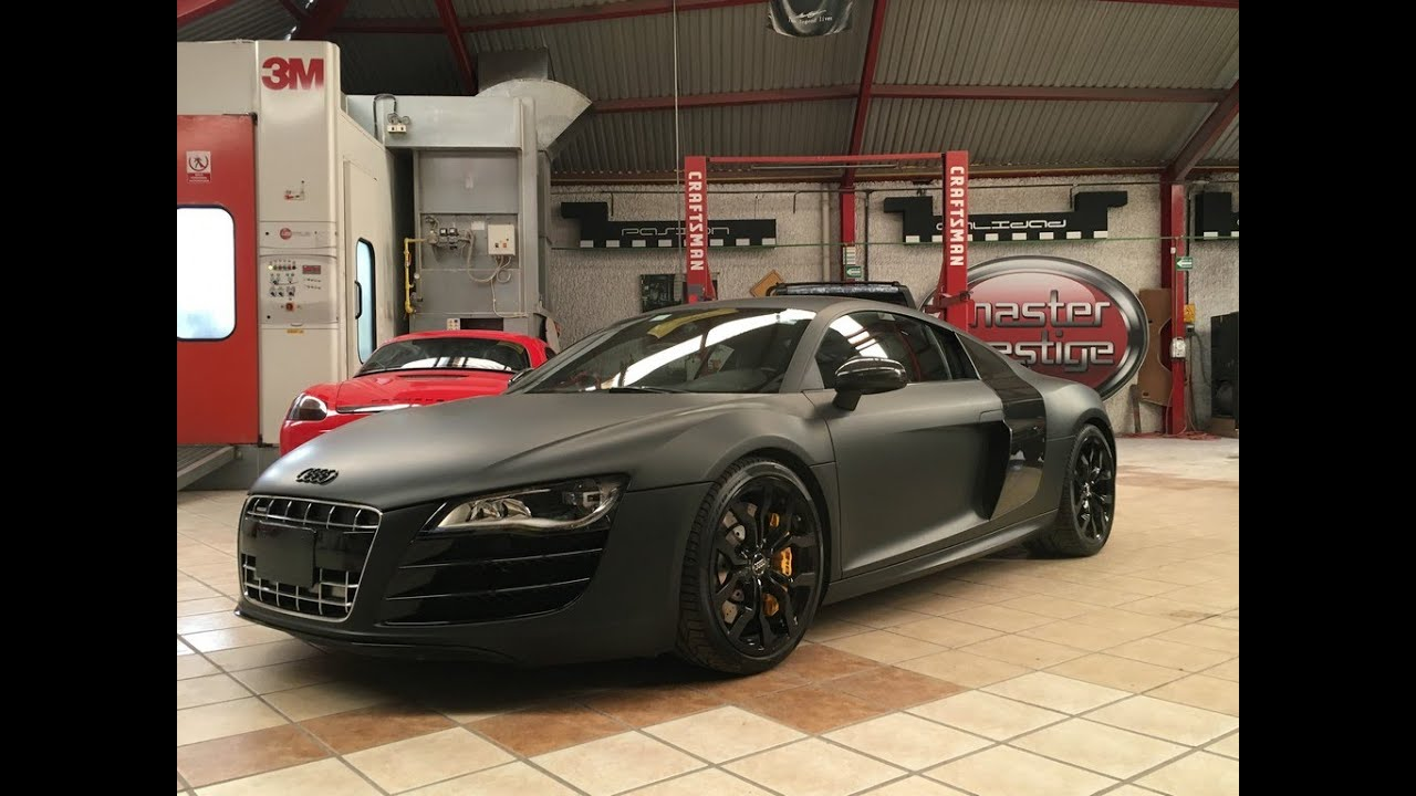 Audi R8 Black Matte Custom Wrapping Youtube