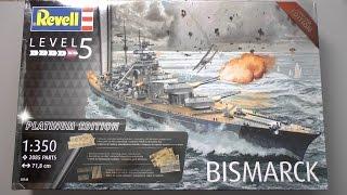 Лінкор Bismarck :: 1/350 :: Revell :: Platinum, Limited edition. Огляд, розпакування.