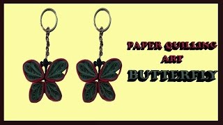 paper quilling butterfly keychain