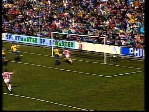 AaB - Brøndby 4-0 (Superliga, forår 1992)