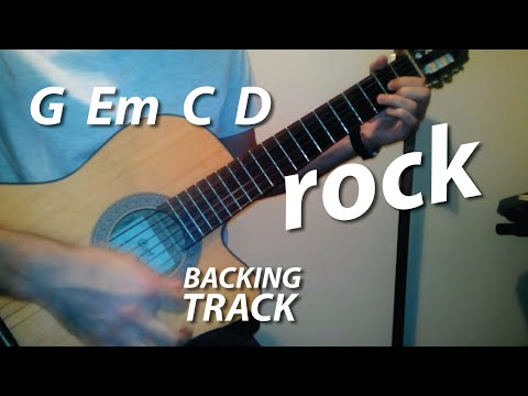 G Em C D Chords Guitar Backing Track (Earth Angel)