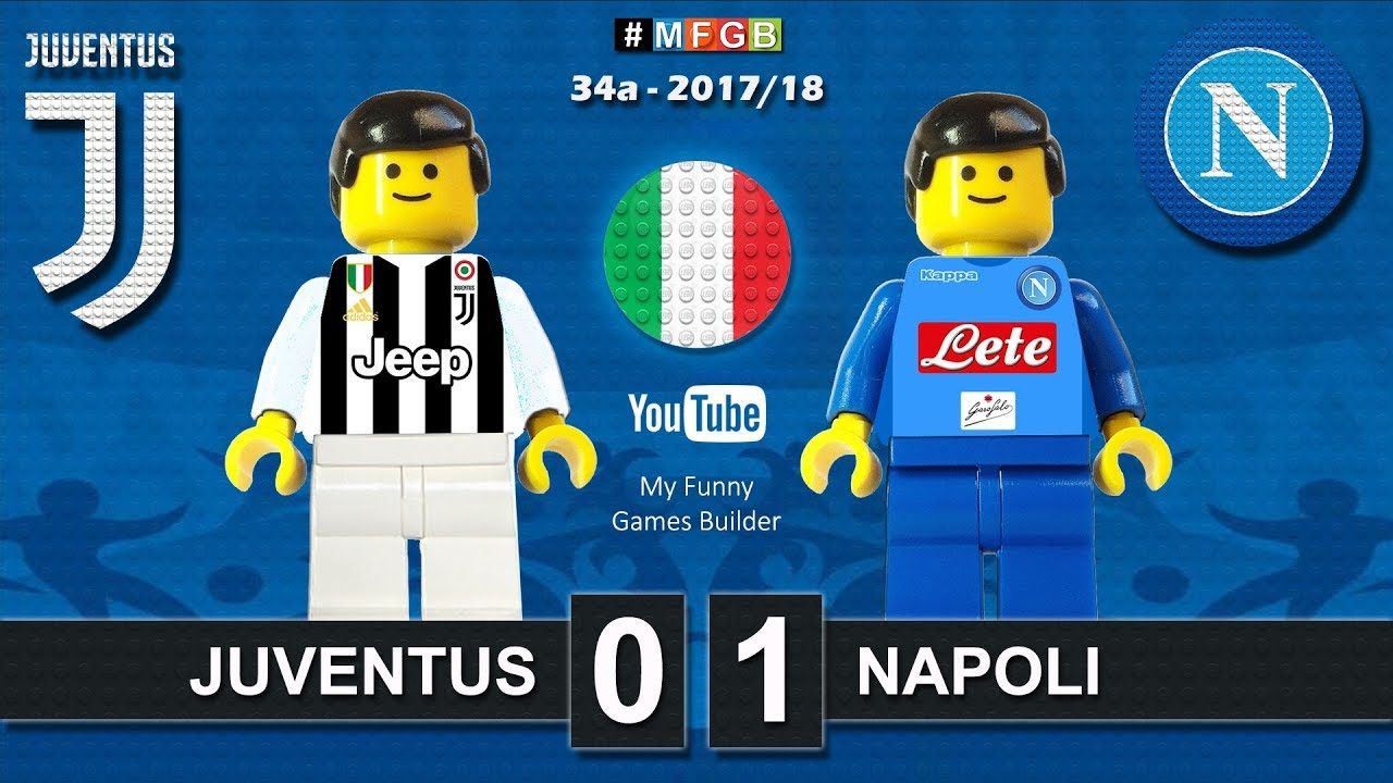 Download Juventus Napoli 0-1 • Serie A (22/04/2018) goal highlights sintesi Juve Napoli in Lego Calcio