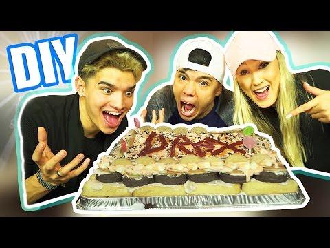 DIY HALLOWEEN CANDY CAKE! (ft LaurDIY & Alex)