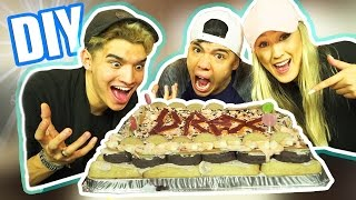DIY HALLOWEEN CANDY CAKE! (ft LaurDIY & Alex)