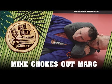 Mike Swick Chokes Marc Bogutzki Unconcious - Real Quick With Mike Swick Podcast