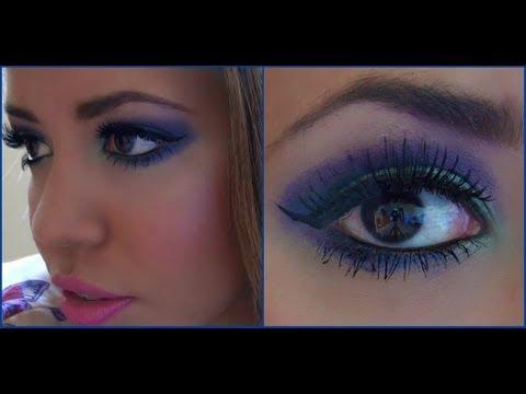 Sombra de ojos azul y morado youtube - Maneras de maquillarse ...
