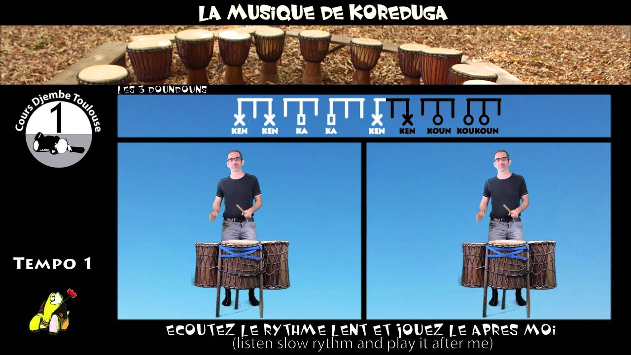 African Drumming (Djembe) Lessons for Beginners: Koreduga ...