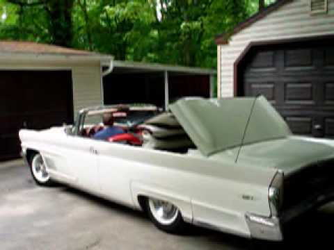 1960 Lincoln Continental Convertible Top Retracting And