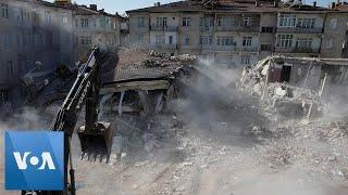 Building Demolished After Turkey Earthquake