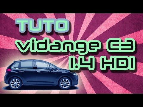 TUTO faire vidange moteur Citroën C3 1.4 L HDI (how to change Citroën C3's oil and filter)