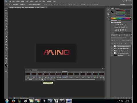 how to make animated text in photoshop cs6