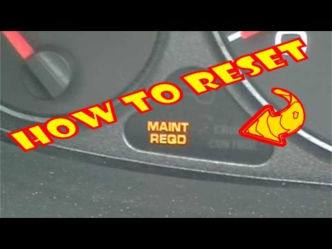 How To Reset Maintenance Required Light On Dash.